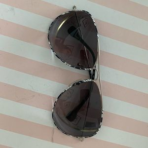 Pucci aviators with black and white pattern